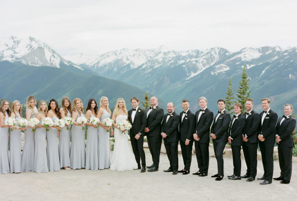 Aspen wedding film photography - bridal party