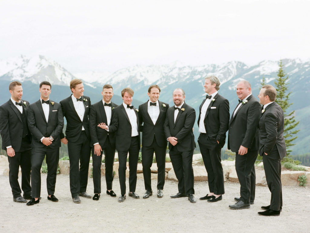 Aspen wedding film photography - groomsmen