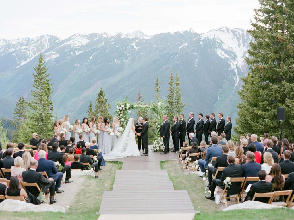 Aspen wedding film photography - wedding ceremony