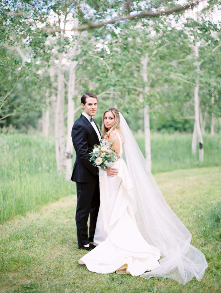 Tara Marolda Aspen Wedding Film photographer - bride and groom