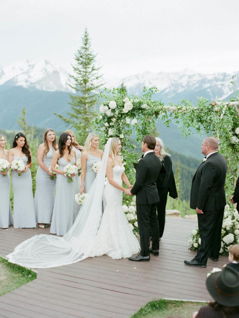 Aspen wedding film photography - ceremony on Aspen Mountain