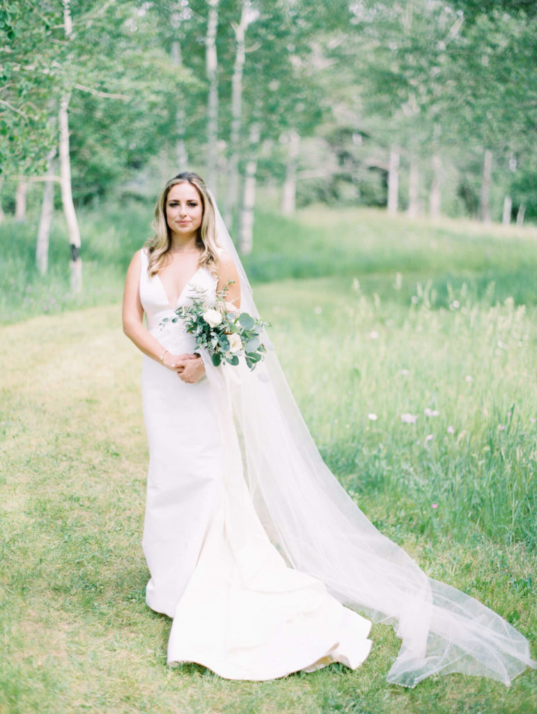 Tara Marolda Aspen Wedding Film photographer - bride at aspen Meadows
