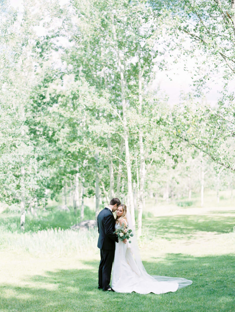 Tara Marolda Aspen Wedding Film photographer - bride and groom at Aspen Meadows