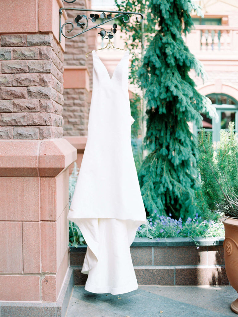 Tara Marolda Aspen Wedding Film photographer - wedding dress