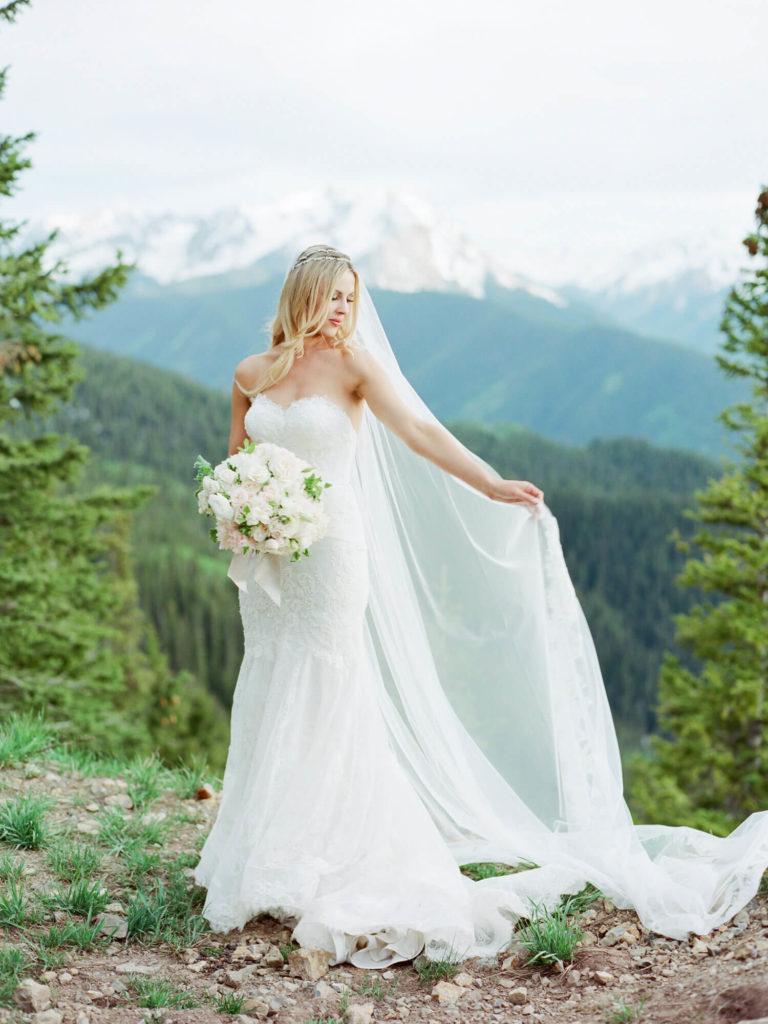 Aspen wedding film photography - bride