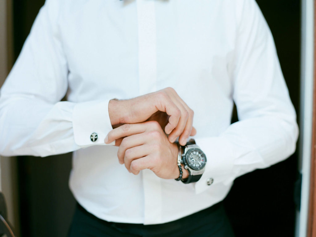 Aspen wedding film photography - groom