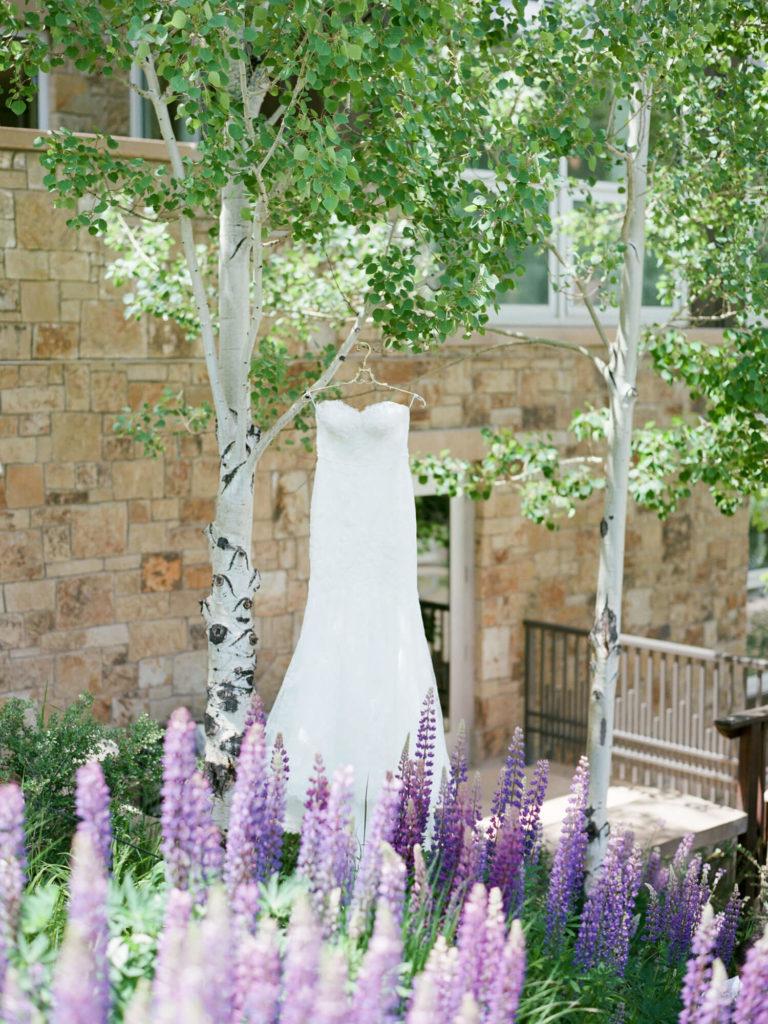 Aspen wedding film photography - wedding dress