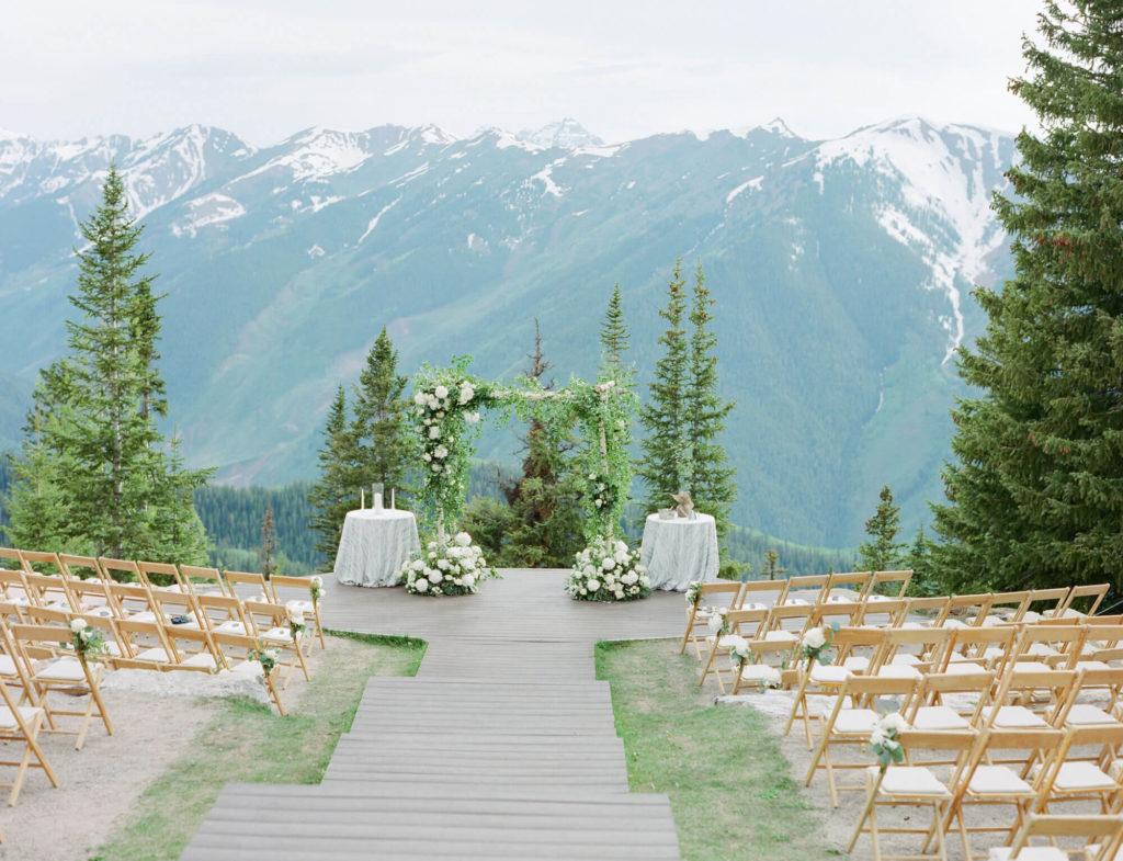 Aspen wedding film photography - wedding ceremony on top of Aspen Mountain
