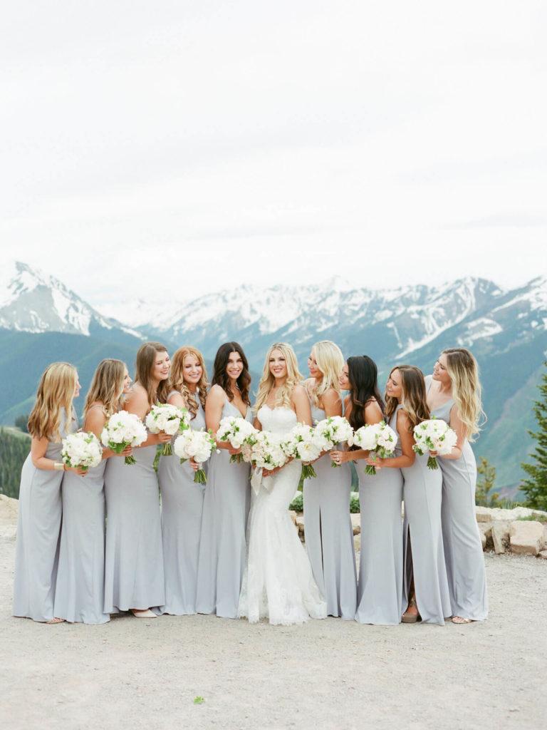 Aspen wedding film photography - bridesmaids