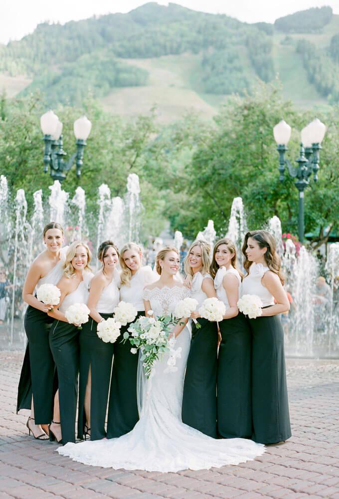 Bridal Party photoshoot in Aspen Wedding photography by Tara Marolda