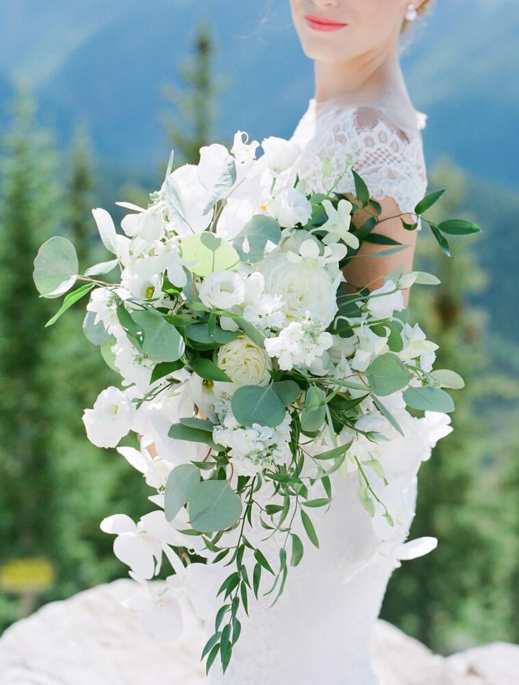 Aspen Mountain Wedding flower bouquet photography by Tara Marolda