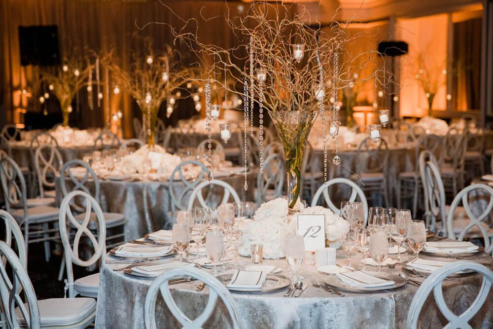 Aspen Wedding Reception table settings photography by Tara Marolda